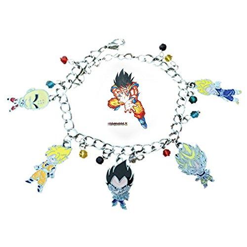 Blue Heron Dragon Ball Z 5 Logo Charms Lobster Clasp Bracelet w/Gift - Swift Party Supplies Taylor