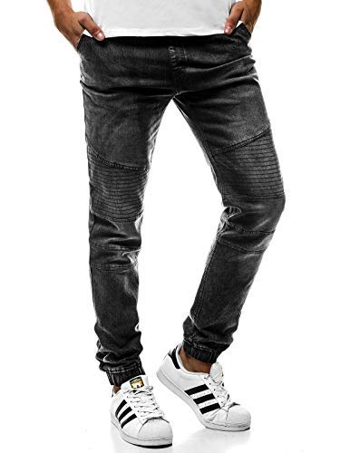 Ozonee Uomo 777 Tempo Jeans Pantaloni 361s Fitness Baggy 777 631s Nero Sport Jogging Jogger Ozonee Libero rq5r6UCw