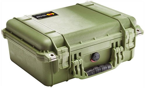 Pelican 1450 Medium Case with Foam, Olive Drab Green by Pelican