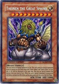 - Yu-Gi-Oh! - Theinen the Great Sphinx (MC2-EN006) - Master Collection Volume 2 - Limited Edition - Secret Rare