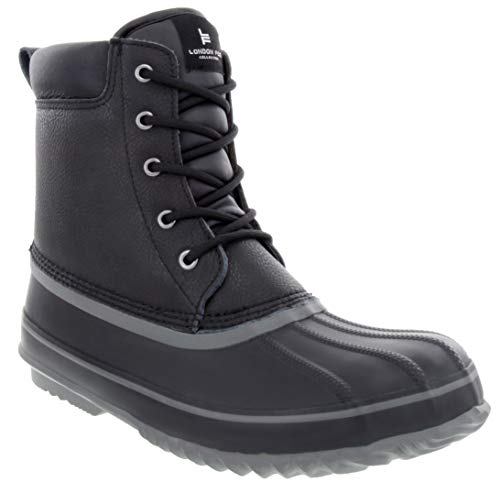 LONDON FOG Mens Ashford Waterproof and Insulated Duck Boot Black 11 M US