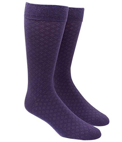 Speckled Eggplant Cotton Blend Dress Socks, One (Man Purple Dress)