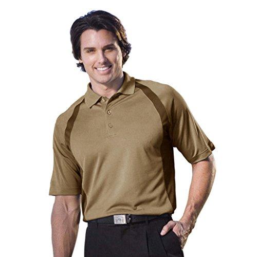 Monterey Club Mens Dry Swing Bamboo Charcoal Blend Texture Raglan Contrast Shirt #1079 (Ginger, X-Large) (Bamboo Raglan)