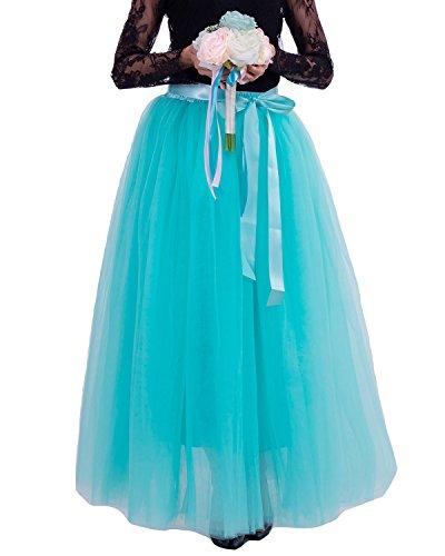 Principessa Comall Danza Tutu Verde Strati Petticoat Sottogonna Tulle gonna 7 in Balletti 100cm di Donna Menta Gonna qSqwWrRvg