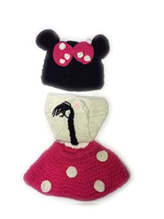 Amazon Photo Prop Baby Crochet Outfit Hat Diaper Cover Minnie