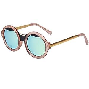 LIANSAN Round Designer Women's Sunglasses Mirrored Lens UV Protection LSPZ2317 BN