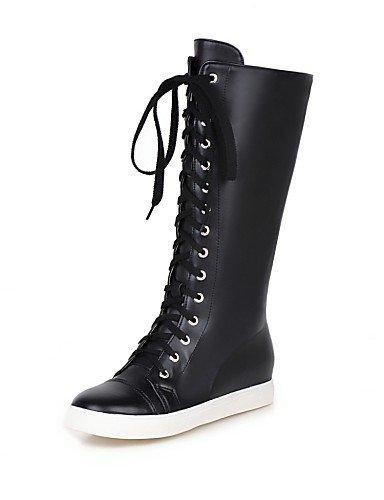 Plataforma Redonda Uk8 Zapatos Eu36 5 us10 Blanco De Mujer 5 us6 Plata White Botas Silver Eu42 Negro Casual Uk4 Punta Vestido Semicuero Cn36 Xzz Anfibias Cn43 0tfqUxw0
