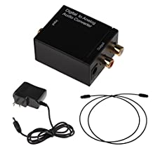 Digital Optical Coaxial to Analog RCA Audio Converter - US Plug