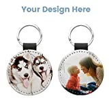 10 Pack Sublimation Blanks Keychain Glitter PU