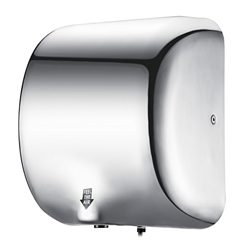 Happybuy Hand Dryer Heavy Duty Commercial 1200W Hand Dryers High Speed 90m/s Automatic Hand Dryer Stainless Steel for Bathroom Home (Style 2)