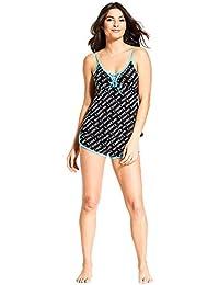 Bebe Women's Sleep Top with Pajama Shorts Set