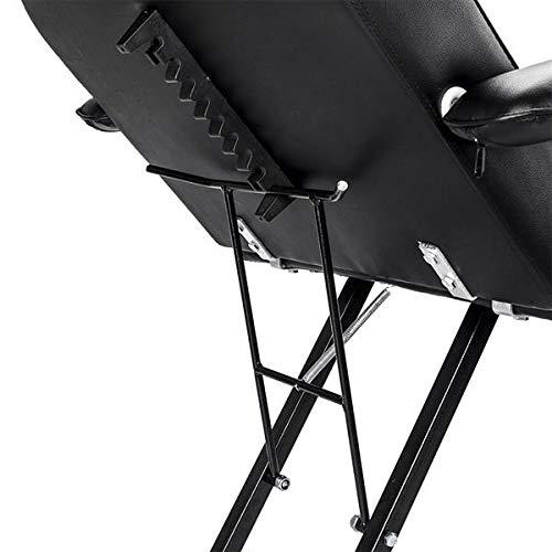 Genetic Los Angeles 72'' Professional Multi-Purpose Salon Chair/Massage/Spa Table Adjustable, Tattoo Chair with Stool Black