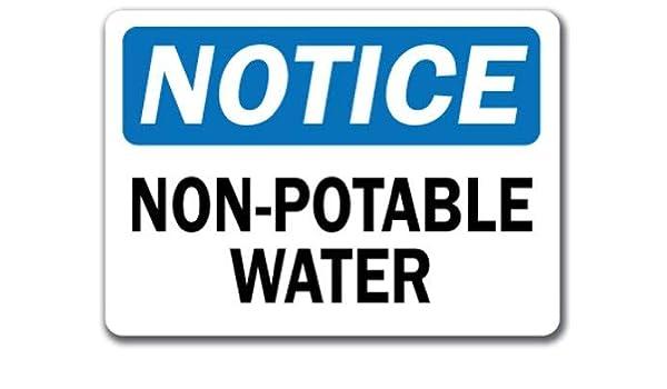 Señal de Advertencia de Agua no Potable, 12 x 18 Pulgadas ...