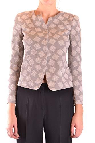 Armani Collezioni Women's Mcbi36362 Grey Cotton Jacket