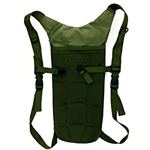 Hydration Backpack Tactical Rucksack Lightweight Run-pack with 3 Liter/100 ounce Reservoirs Water Bladder Bag for Hiking, Running, Camping, Climbing, Cycling, Walking, Hunting (Green)