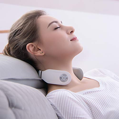 SKG Smart Neck Massager Wireless Neck Massage Equipment 8 Times Use (30 Minutes/Time)-White