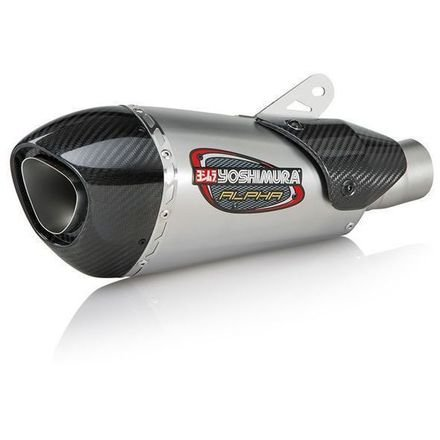A675: Yoshimura Alpha T Slip-On Exhaust (Street/Stainless Steel/Stainless Steel/Carbon Fiber/Works Finish) ()