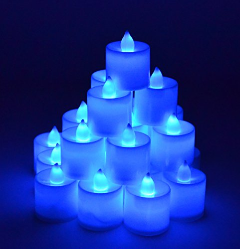 Blue Led Candle Lights