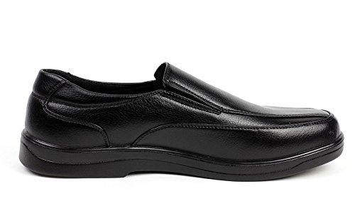 De Zapatos Mocasines Jas Hombre Trabajo Clásico Para Sin Oficina Cordones Cómodo Elegante Casual Negro fw6YAT6q