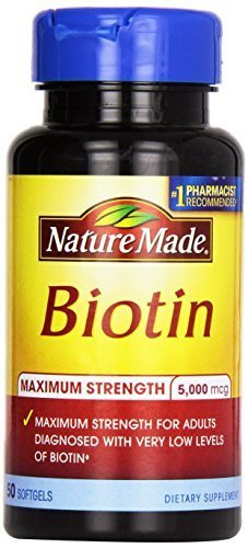 Nature Made Biotin Softgel, 5000 Mcg, 50 Count (Packaging May Vary) (Pack of 4) by Nature Made