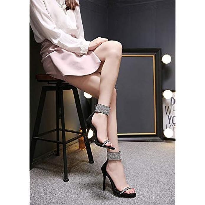 Scarpe Col Tacco Sandali Stiletto Sexy In Pelle Scamosciata Da 11 Cm Moda Donna Europea E Americana
