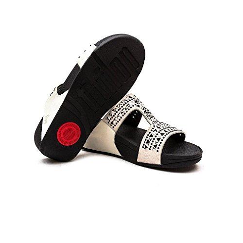 Sandales FitFlop Slide Blanc Carmel Femme xHH75