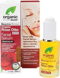 Dr Organic Rose Otto Face Facial Serum 30ml Restoring Oil