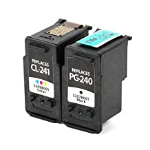 SaveOnMany ® Canon PG-240 CL-241 (PG240 CL241) Bk&Color Remanufactured Ink Cartridge For Canon PIXMA MG2120 MG2220 MG3120 MG3122 MG3220 MG3222 MG3520 MG4120 MG4220 MX372 MX392 MX439 MX452 MX459 MX512 MX522,MX432 (2PACK normal version)