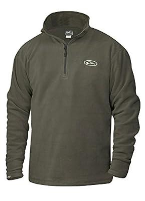 Camp Fleece 1/4 Zip Pullover in Moss by Drake