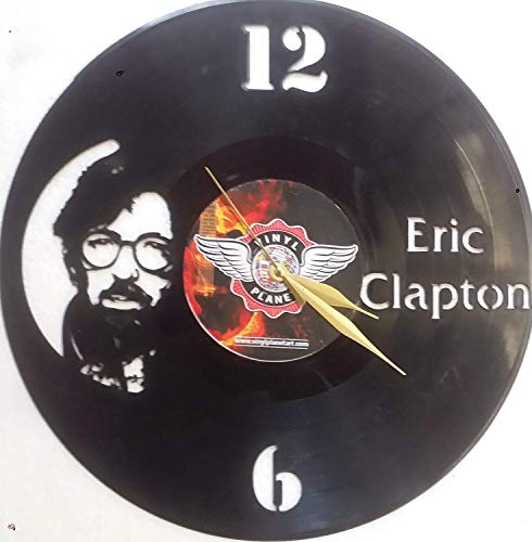 "Vinyl Wall Clock ERIC Clapton Laser Cut Vinyl Record Wall Clock upcycled from an Old 12"" Vinyl Record Great Music Memorabilia Piece to Decorate Your Room or The for Your Favorite Friend"