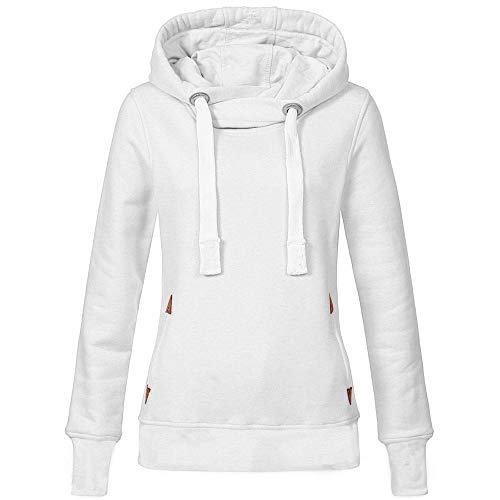 URIBAKE Women Solid Hoodie Long Sleeve Drawstring Hooded Spring Soft Pullover Sweatshirt Tops Blouse(S-5XL)