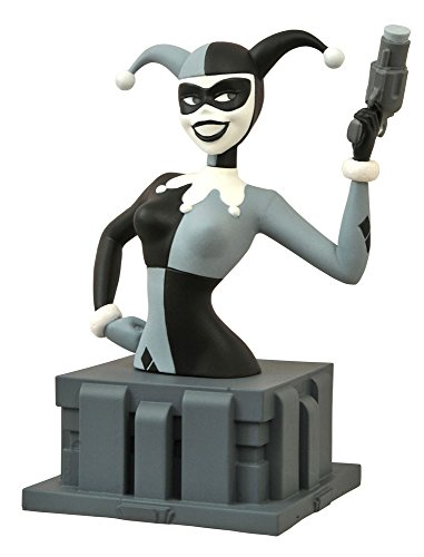 Diamond Select Toys Batman: The Animated Series: Harley Quinn Bust, Black/White