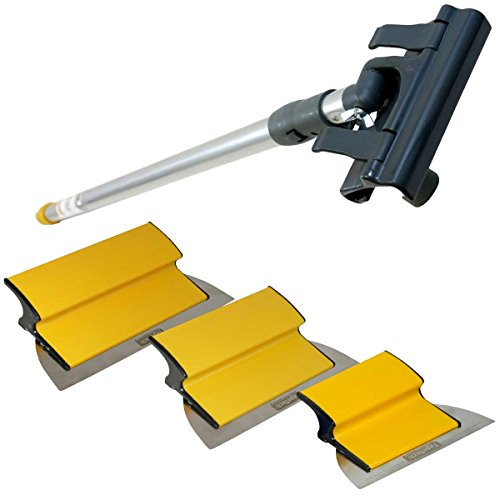 (TapeTech Drywall Finishing Tool Smoothing Blade / Wipe Down Knife Triple Combo Set with Handle 7