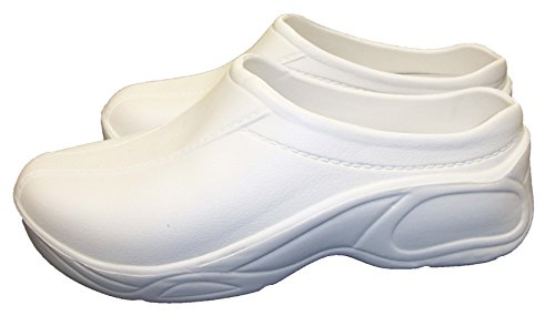 Comfortable Lightweight Ultralite Strapless Clogs White 8