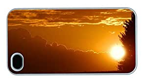 Hipster iPhone 4 waterproof case Stunning Sunset PC White for Apple iPhone 4/4S