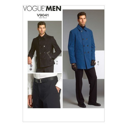 Vogue Patterns V9041 Men's Jacket and Pants Sewing Template, Size MUU (34-36-38-40) - Mens Jacket Patterns