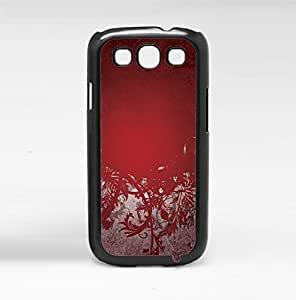 Red and Silver Pattern Hard Snap on Phone Case (Galaxy s3 III)