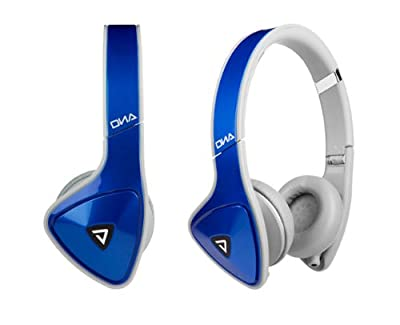 Monster DNA On-Ear Headphones (Cobalt Blue with Light Gray) Bundle with Custom Design Zorro Sounds Cleaning Cloth