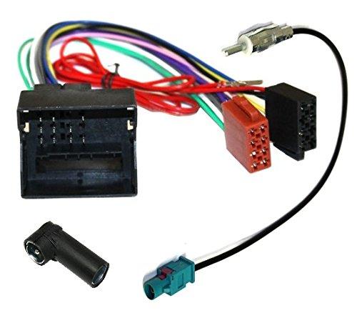 AERZETIX: Adaptador con ISO cables enchufes para antena de autoradio C1871C2830C2059: Amazon.es: Electrónica