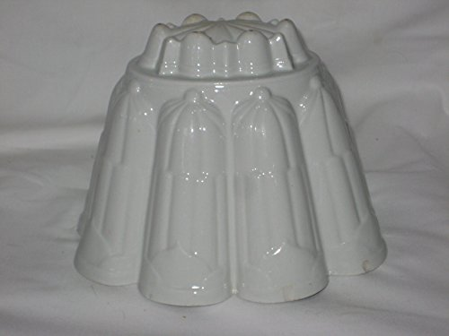(Vintage 1920's Shelley Porcelain Bone China 6x6x7 Inch Food Pate Jelly Jell-O Mold England)
