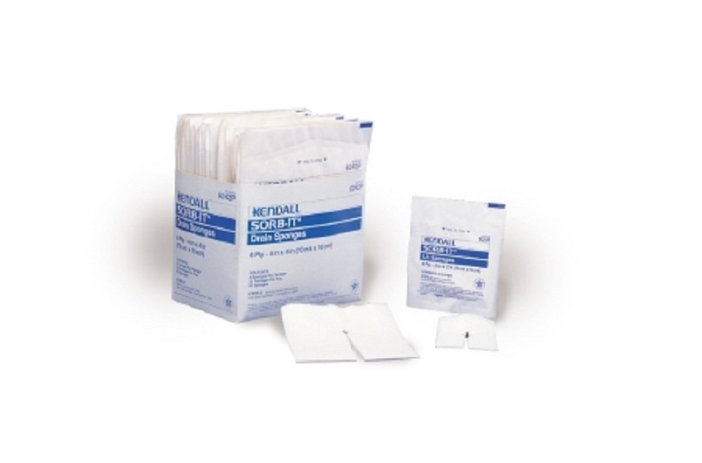 Curity - Drain Sponge Curity - Gauze 4 X 4 Inch Square Sterile - 600/Case - McK by Curity