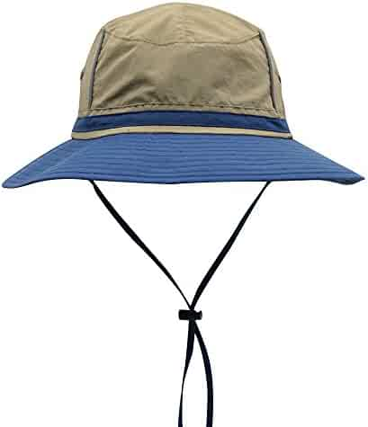 Connectyle Outdoor Boonie Fishing Bucket Hat Summer Colorblock Sun Hats  Hunting Cap 9d6e39d32fa9