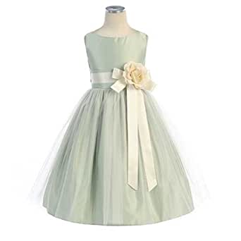 sweet kids girls vintage satin tulle special occasion 8