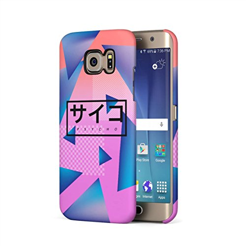 80s Phone (Psycho Retro 80s Triangles Pattern Hard Plastic Phone Case For Samsung Galaxy S6 Edge)