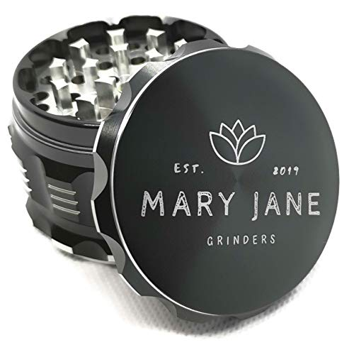Mary Jane Herb Grinder with Kief Catcher and Magnetic Lid.