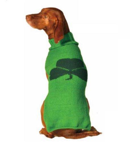 Chilly Dog Shamrock Dog Sweater, X-Small, My Pet Supplies