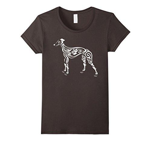 Womens Greyhound T-Shirt - Cute Dog Tee for Pet Parents Large Asphalt