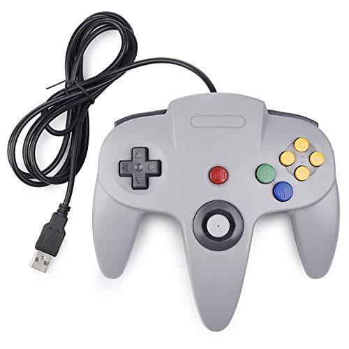 kiwitatá N64 Classic 64 USB Controller,Retro N64 Bit Wired
