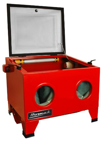 Homak 23-Inch Table Top Abrasive Blast Cabinet, Red, RD00920250