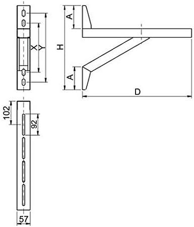 Z o.o MK sp Wandkonsole 598 mm f/ür doppelwandigen Edelstahlschornstein Edelstahl gl/änzend Keine Farbe w/ählbar